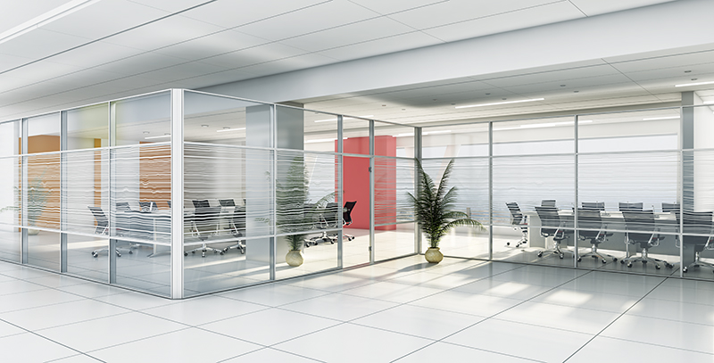 پارتیشن-دو-جدار-با-پوشش-تمام-شیشه-طرح-دار-پریوال-تیپ-8585 - https://mohitara.com