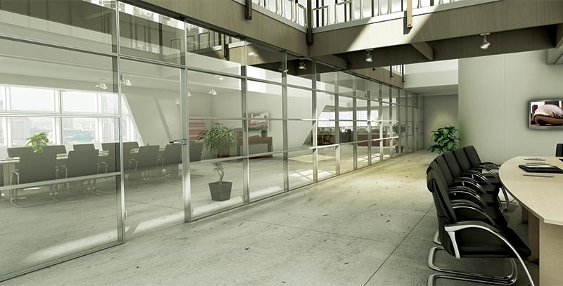 پارتیشن-دو-جدار-با-پوشش-تمام-شیشه-پریوال-تیپ-8552 - https://mohitara.com